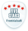 Rated 5 stars at FreeTrialSoft.com